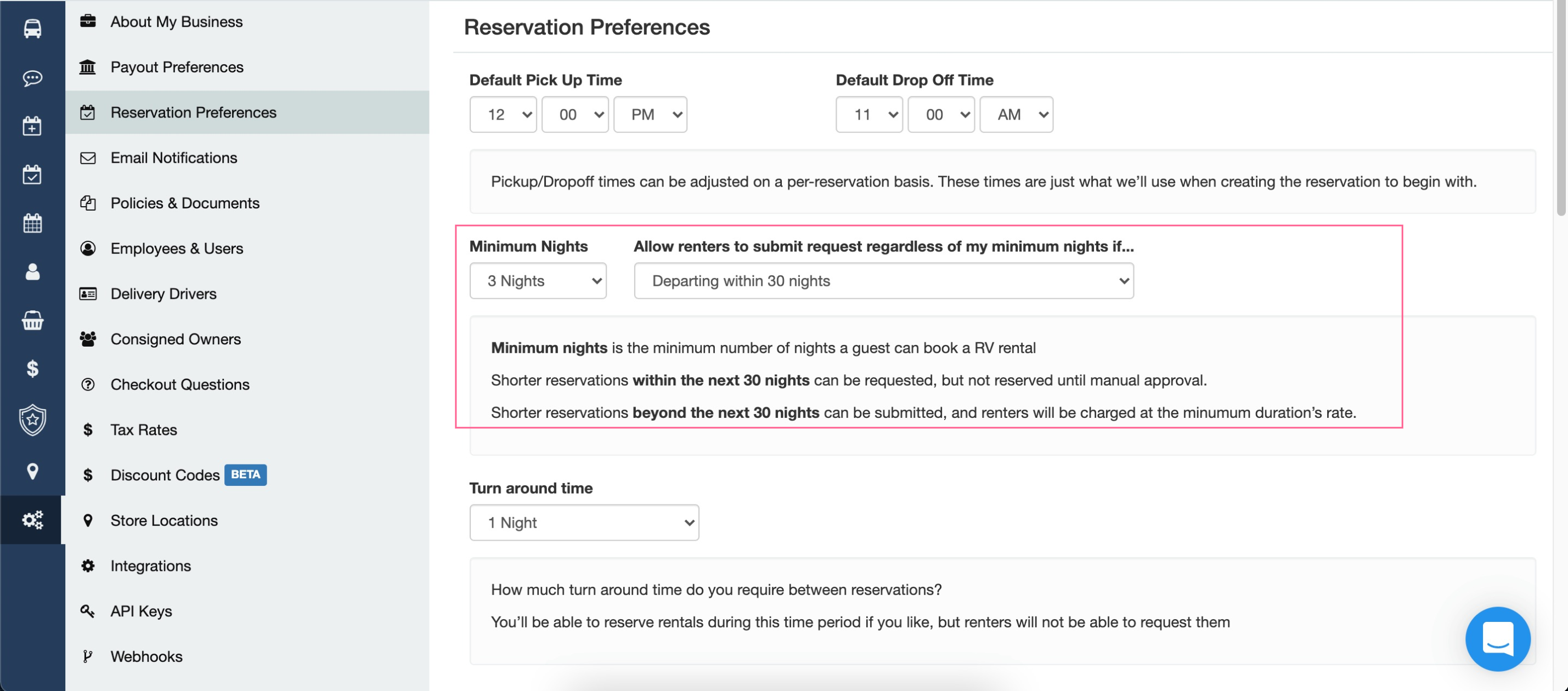Reservation Preferences Account Wheelbase 2021-08-20 at 1.14.56 PM